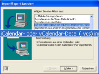 Outlook Import-Format wählen