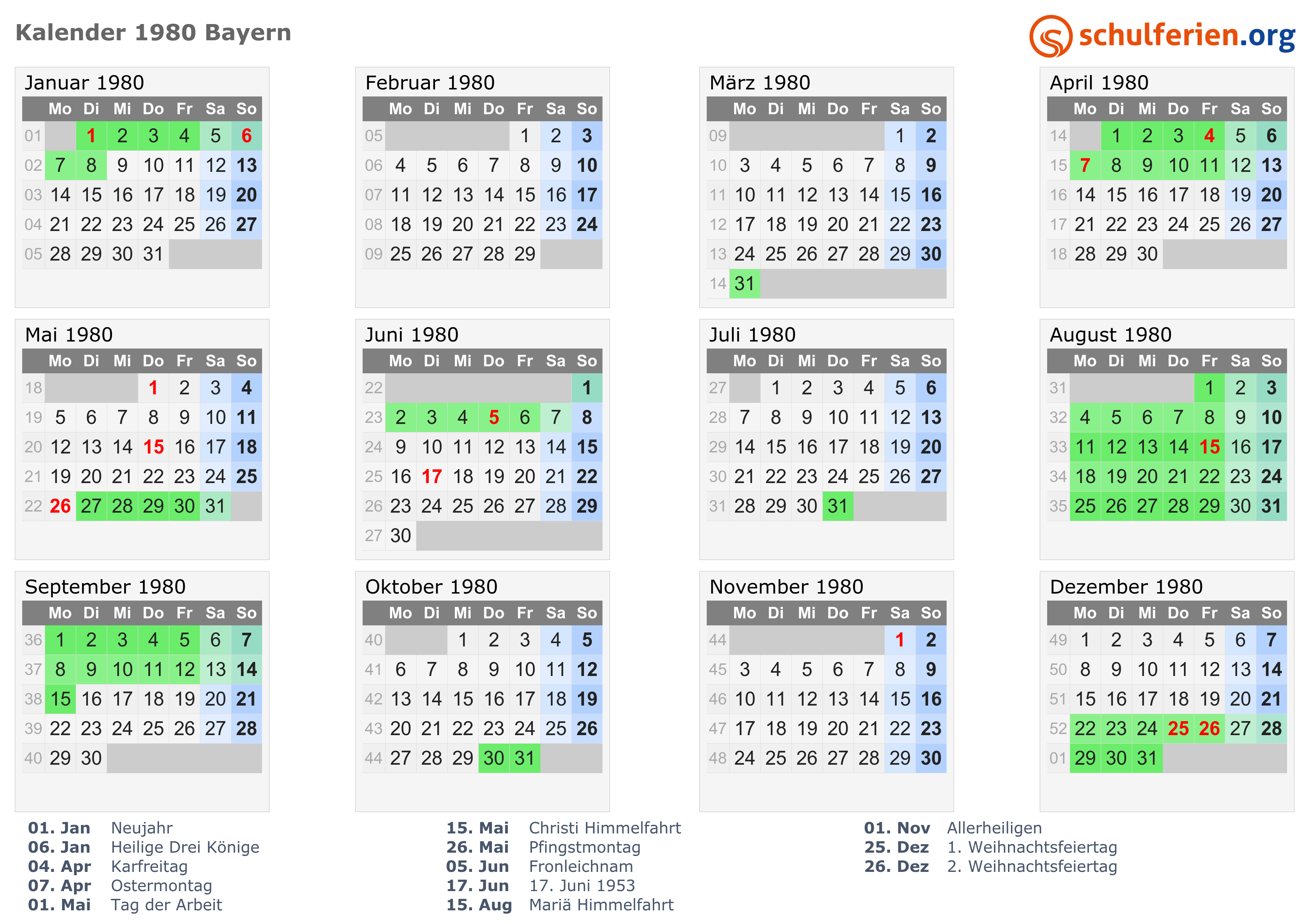 kalender 1980