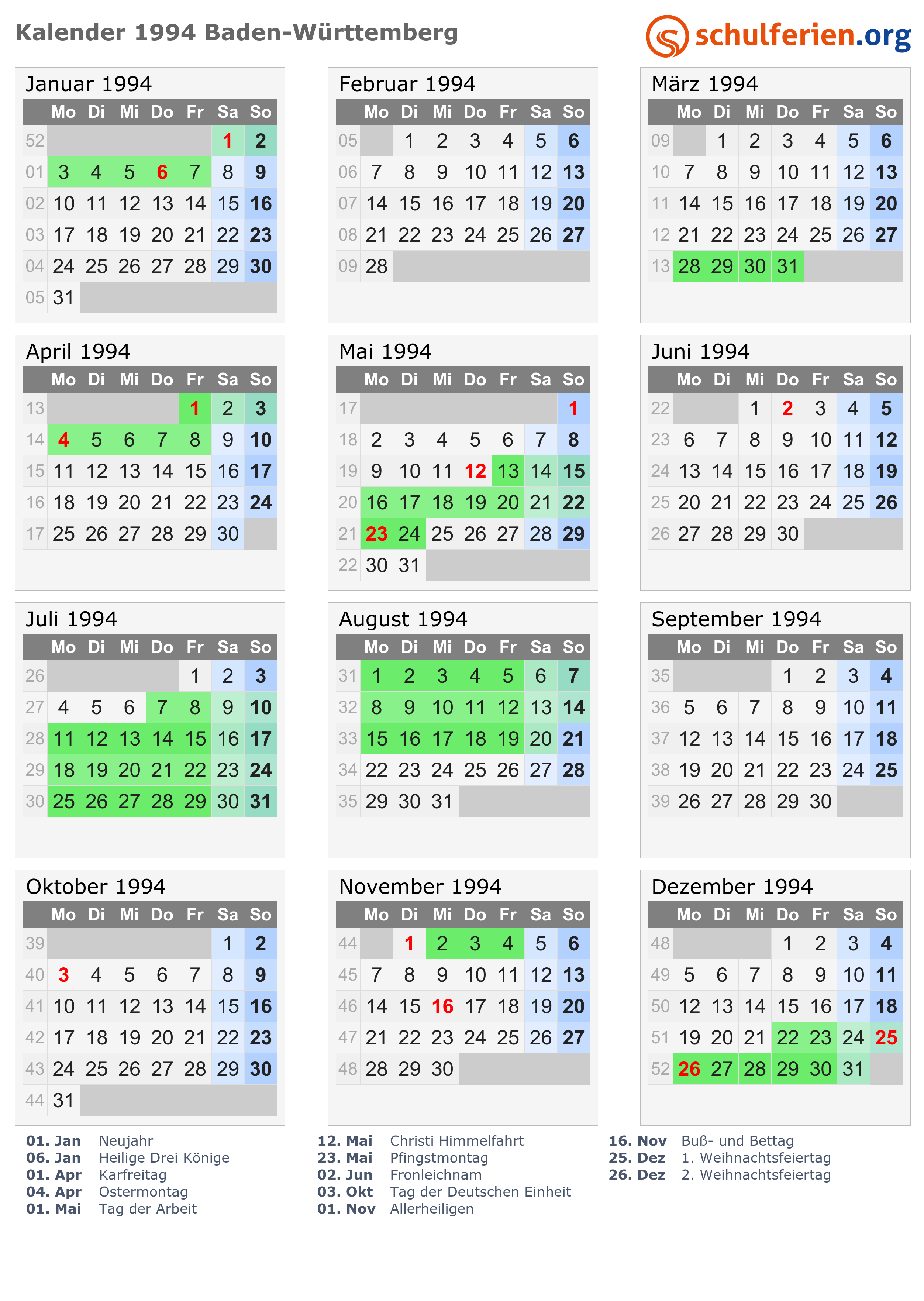 Feiertage in baden württemberg 2019