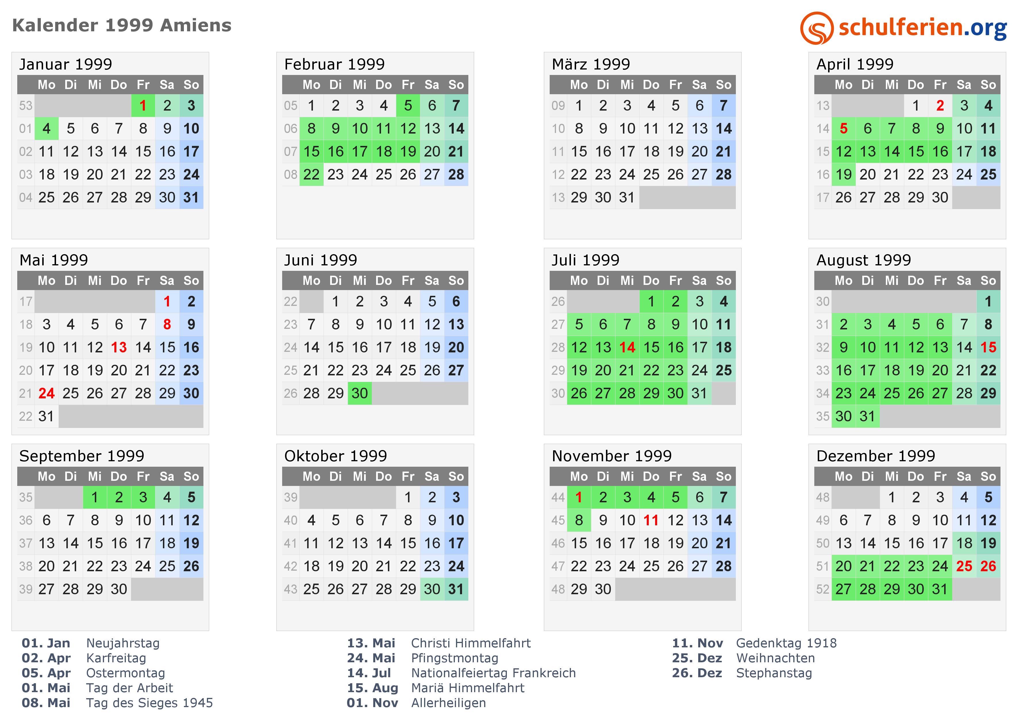 kalender frankreich