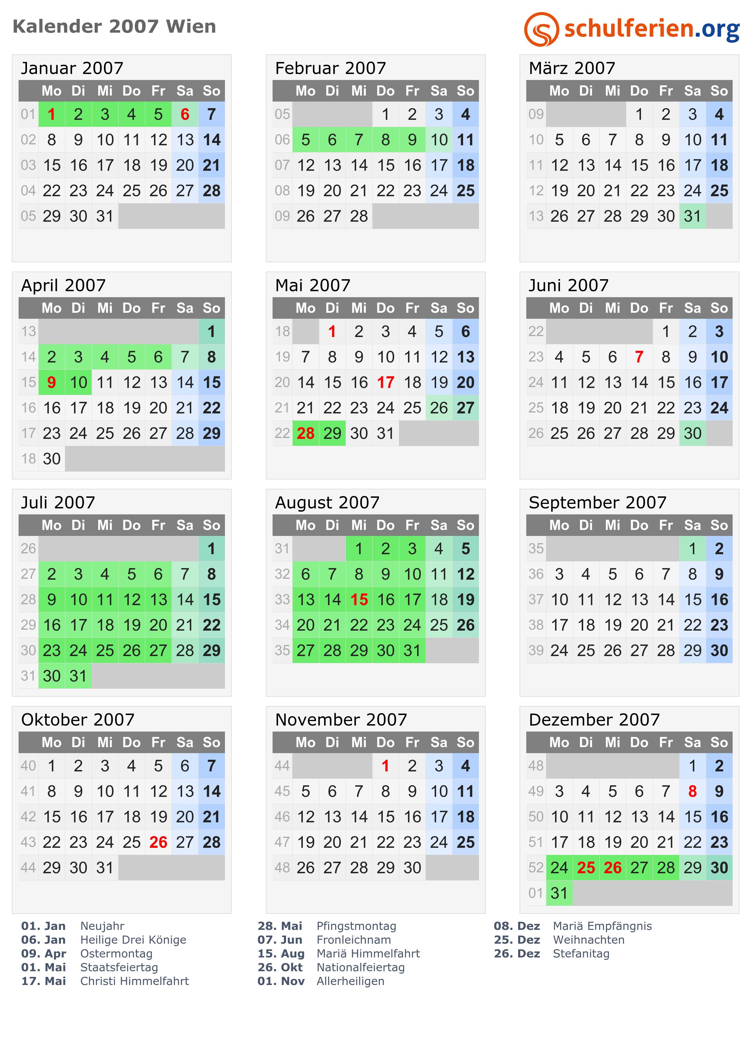 Kalender 2007 Wien