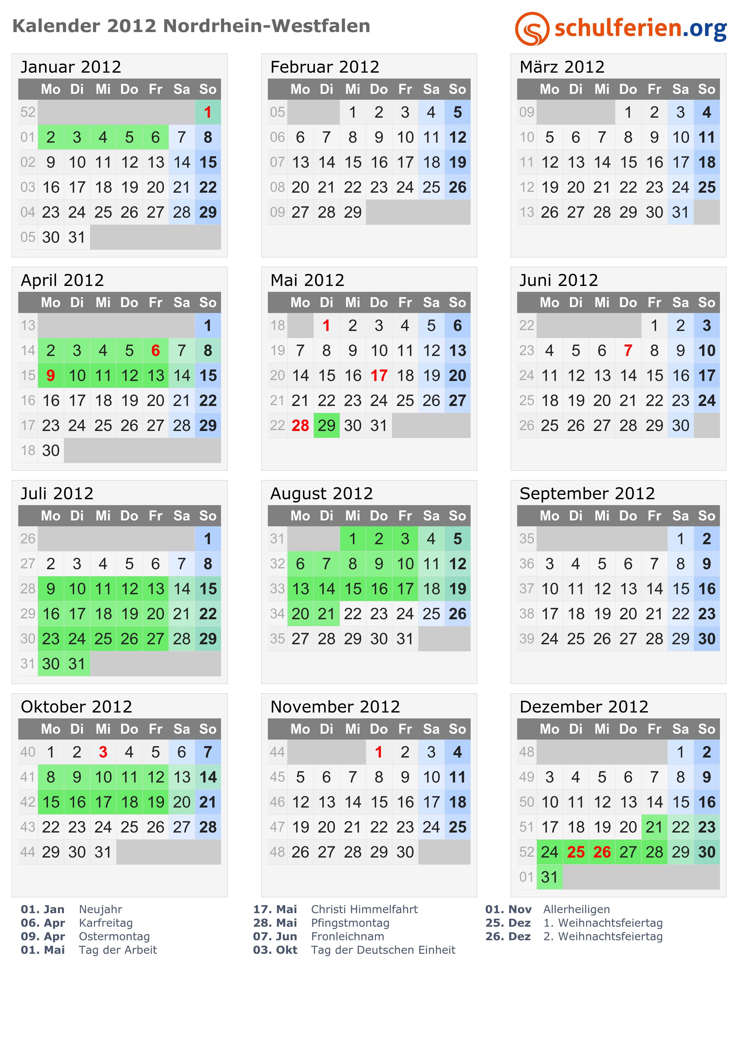 ostern 2012 kalender