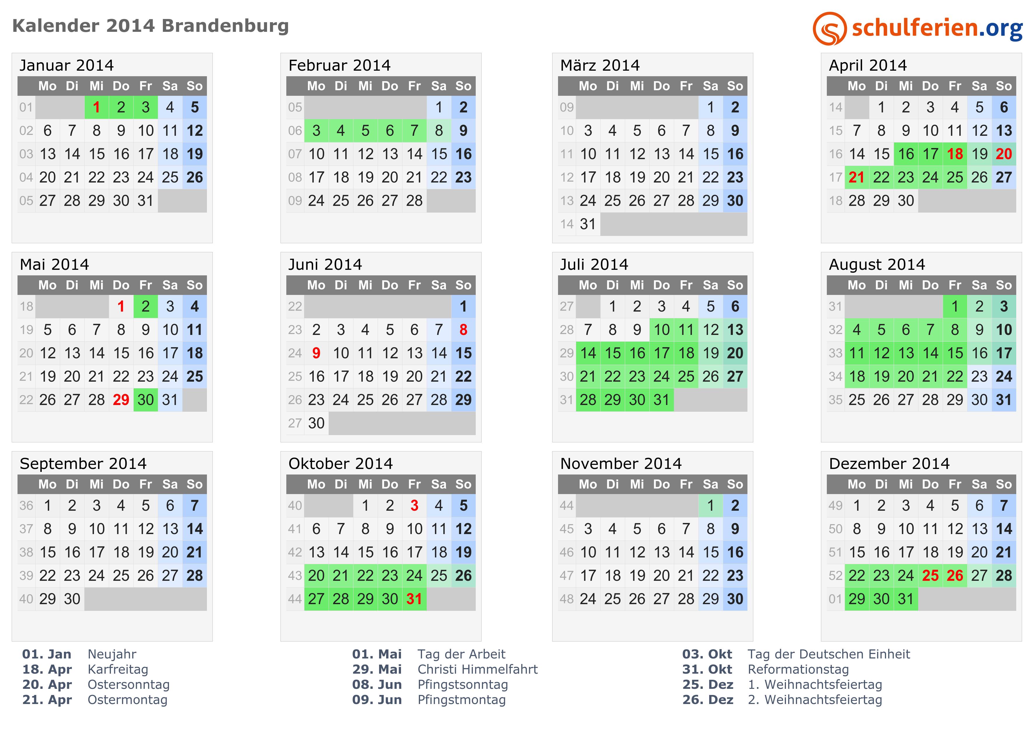 Kalender 2014 mit ferien und feiertagen brandenburg png pdf