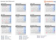 Kalender 2016 österreich Mit Feiertagen