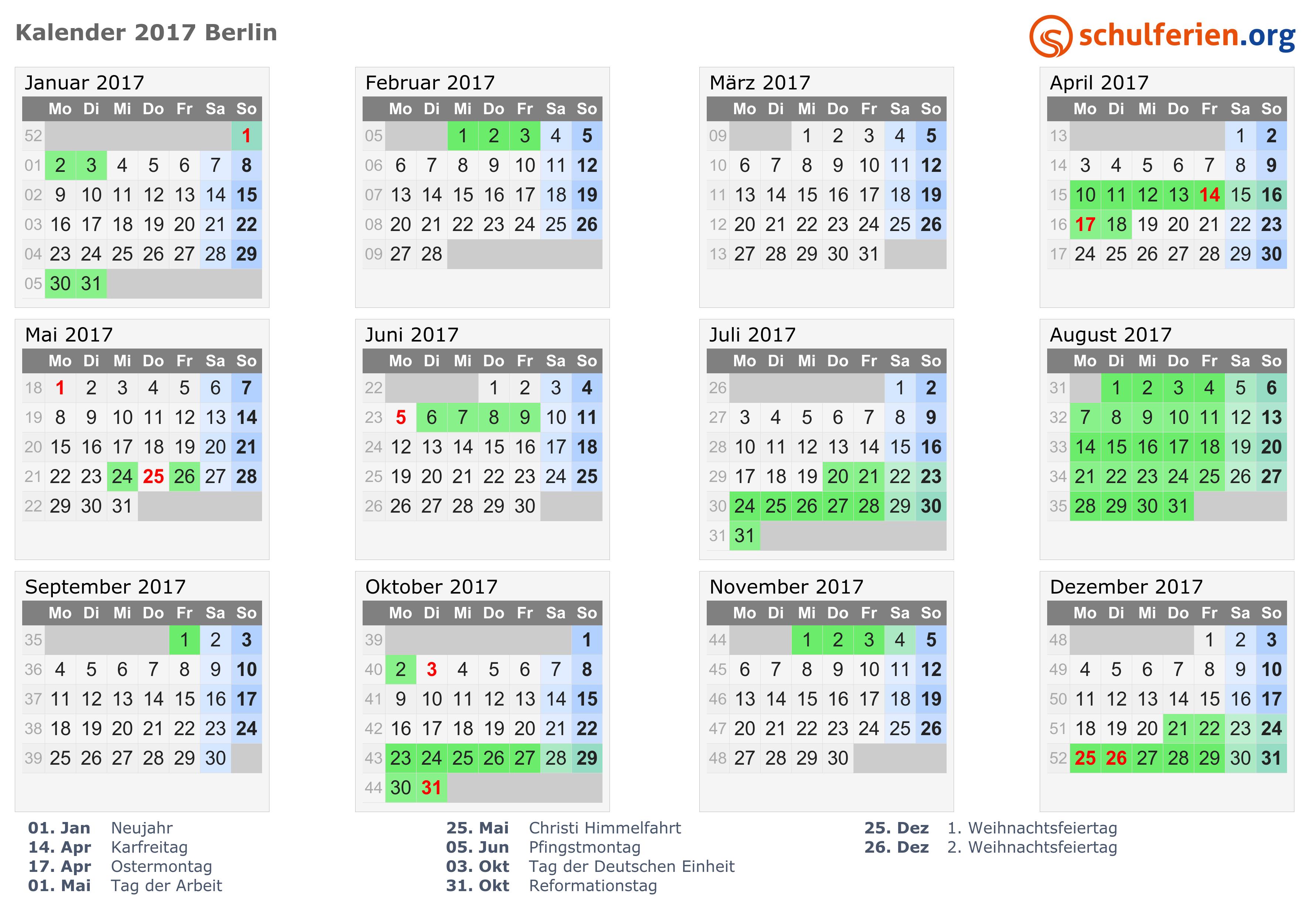31.10. Feiertag Berlin