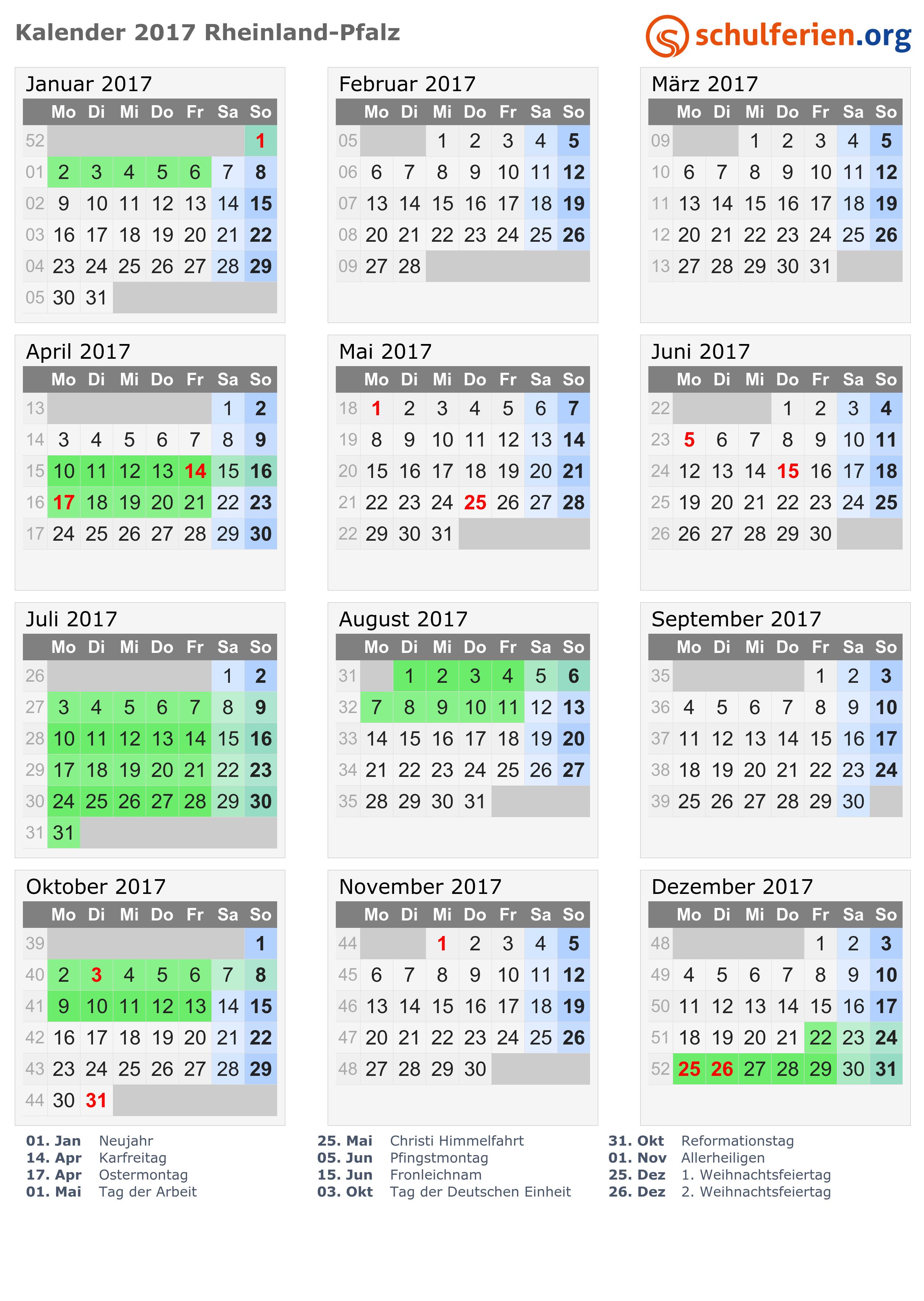 Ferien Bayern 2016 - Ferienkalender zum Ausdrucken