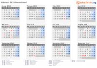 Kalender 2018 kalender 2018 mit feiertagen stopboris Image collections