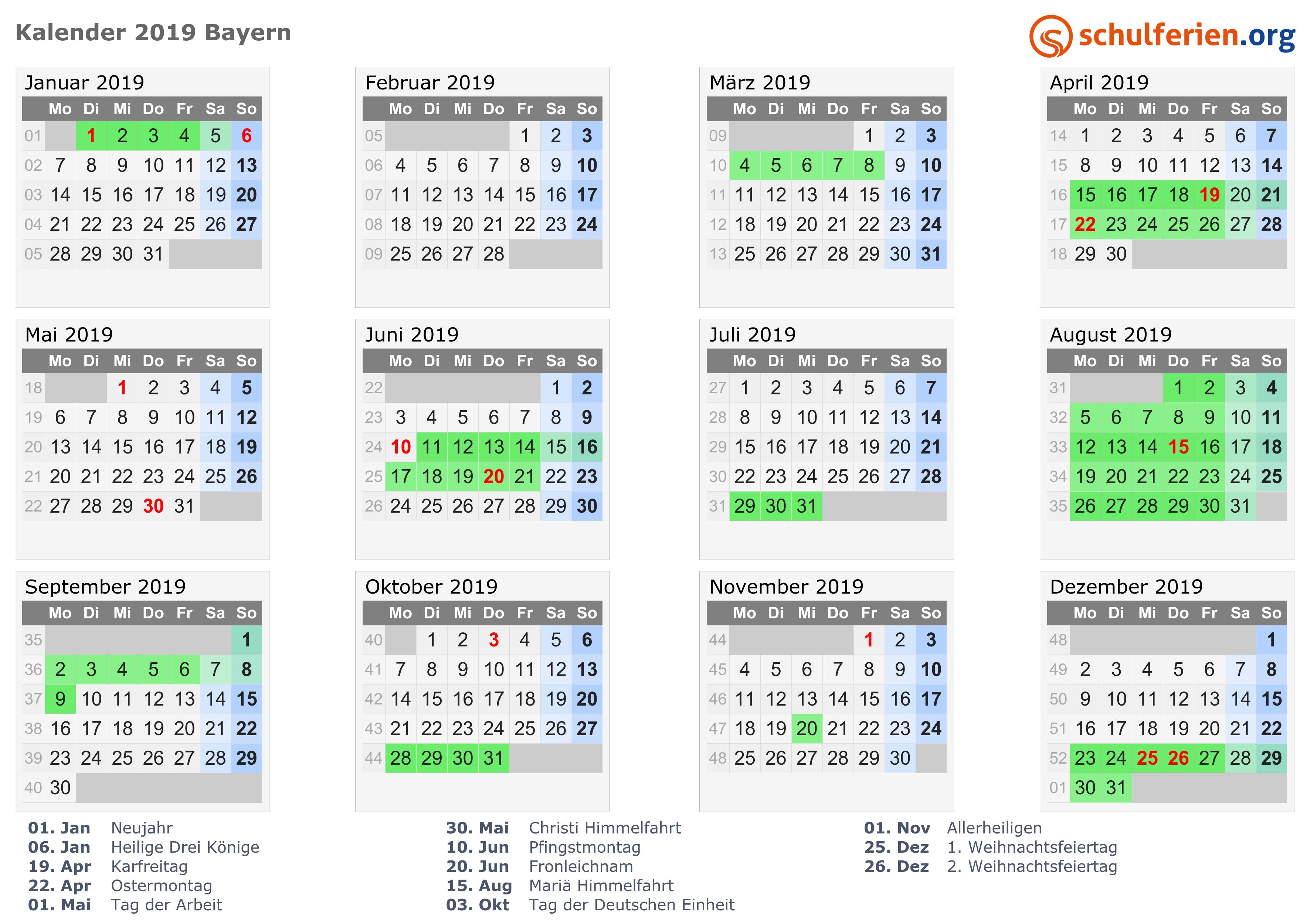 Kalender 2019 Download