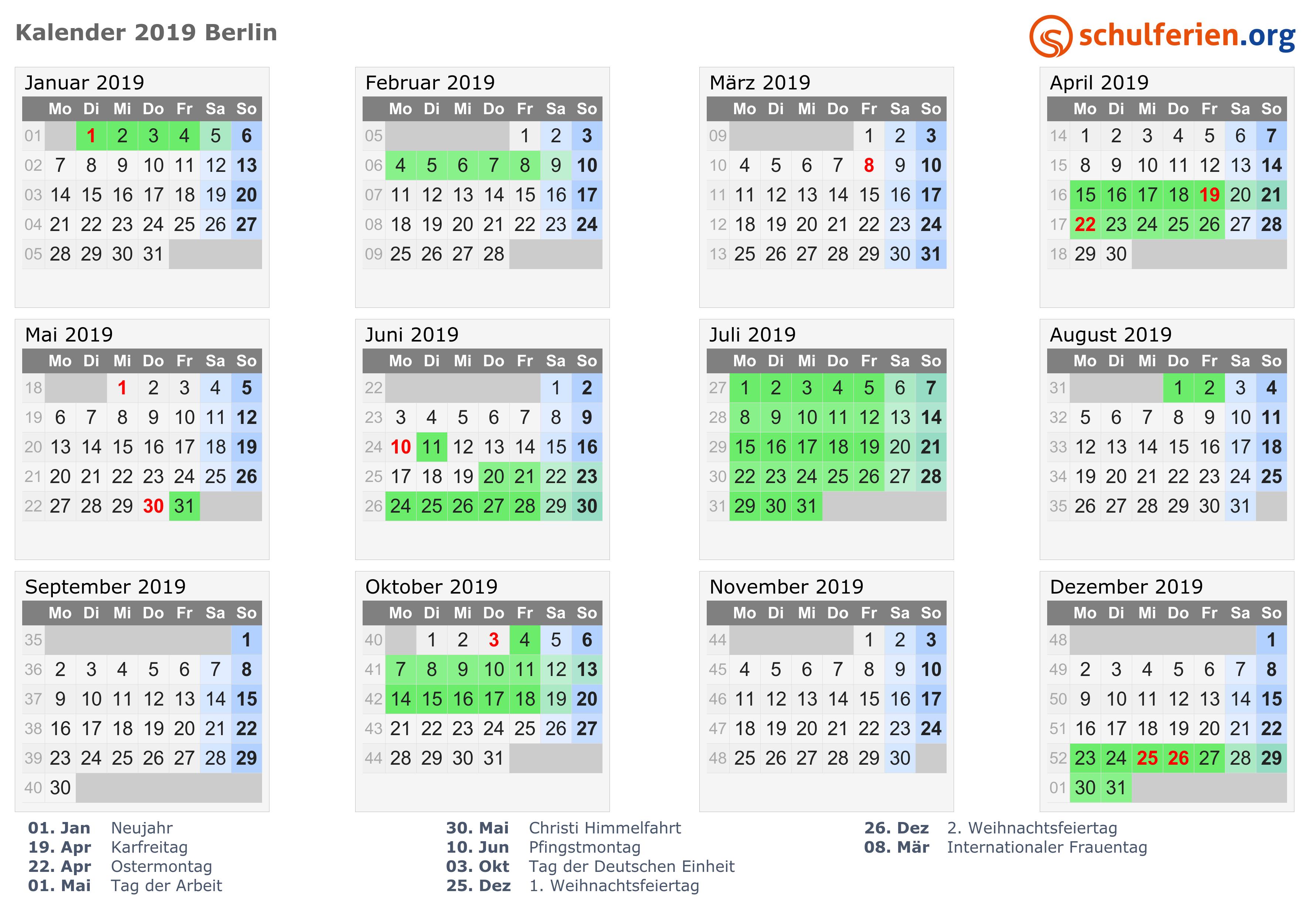 Weihnachten 2019 Berlin.Kalender 2019 2020 Berlin