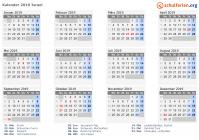 Kalender 20192020 Israel Feiertage