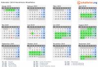 Weihnachten 2019 Nrw.Kalender 2019 Ferien Nordrhein Westfalen Feiertage