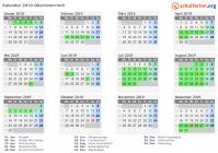 Kalender 2019 Oberösterreich