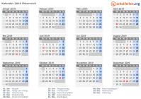 Weihnachten 2019 österreich.Kalender 2019 österreich Mit Feiertagen