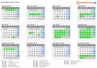 Kalender 2019 Tirol