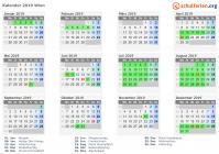 Kalender 20192020 Wien