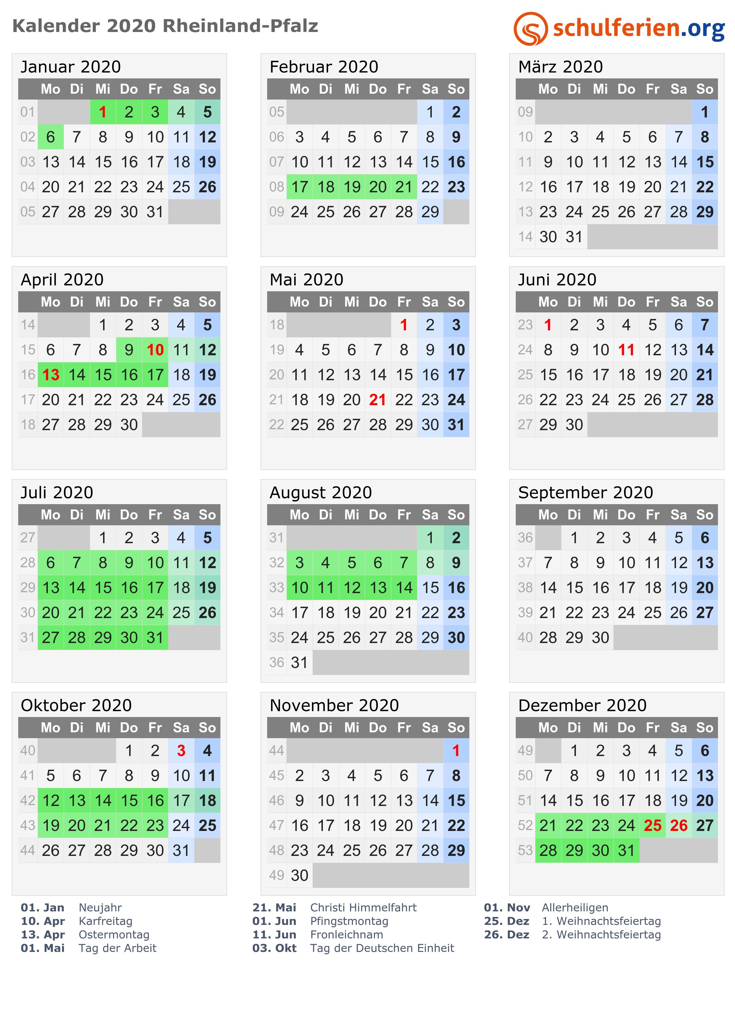 Feiertage In Rlp 2020