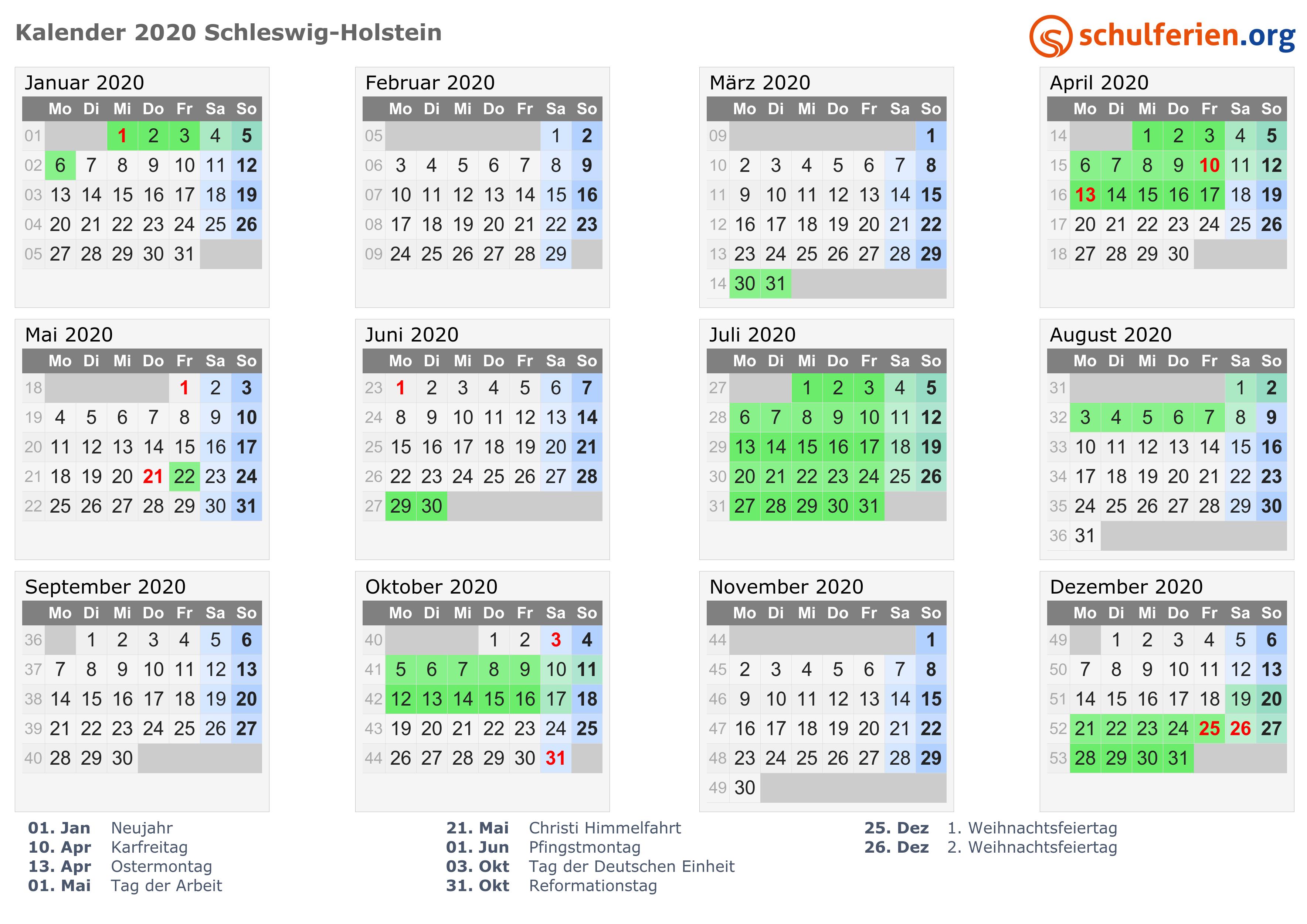 Ostern 2020 Schleswig Holstein