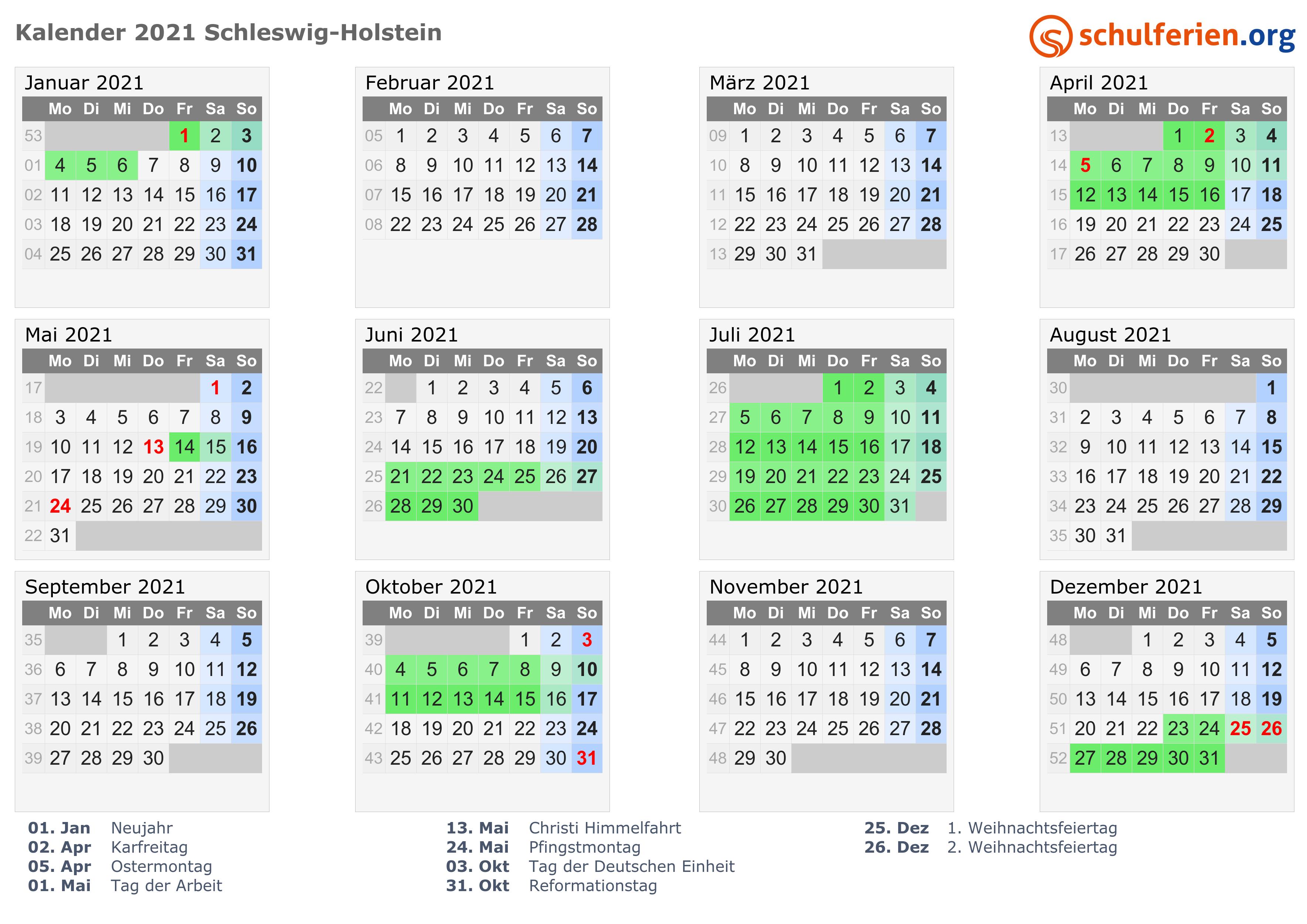 Schleswig Holstein Feiertage