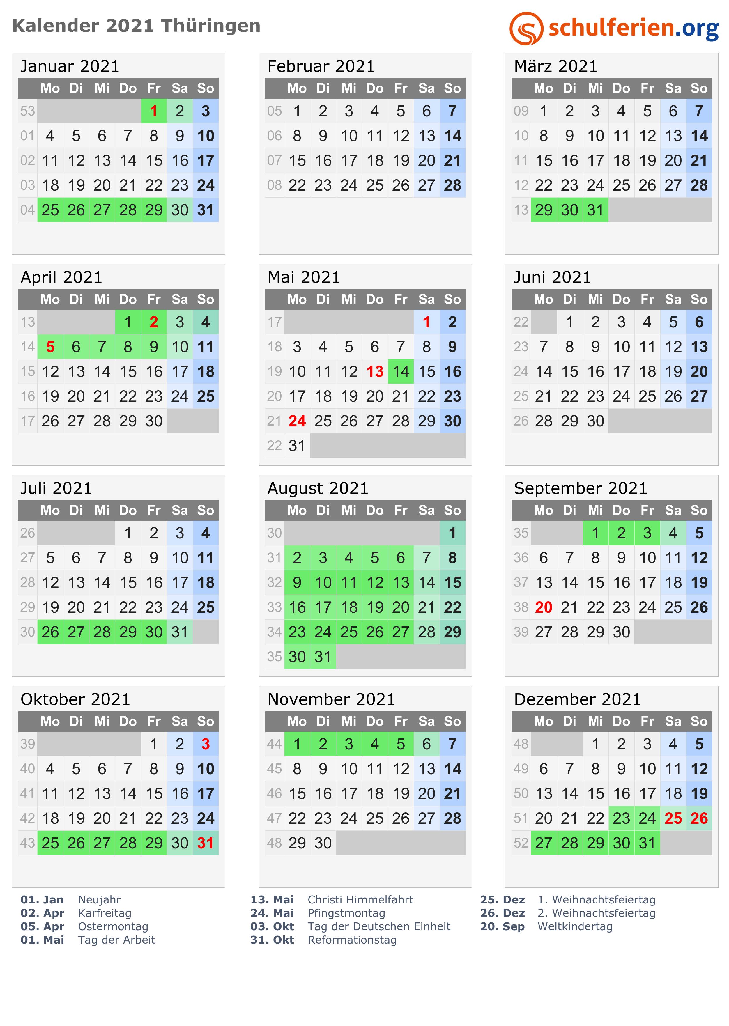 kalender 2021 hessen