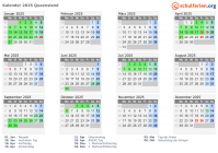 Kalender 2025 Queensland